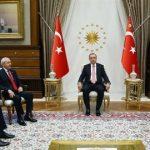 Erdoğan ve parti liderleri