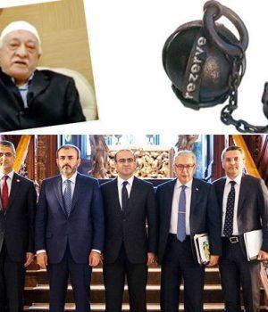 Soldan sağa: MHP'li Aydın, AK Parti'den Ünal ve Özhan, Türkiye'nin Washington Büyükelçisi Serdar Kılıç ile CHP'li Salıcı