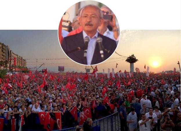 Kılıçdaroğlu, İzmir'deki 'Cumhuriyet ve Demokrasi Mitingi'nde