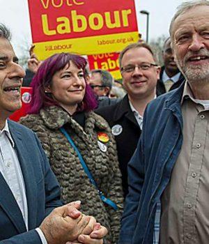 Sadıq Han ve Jeremy Corbyn