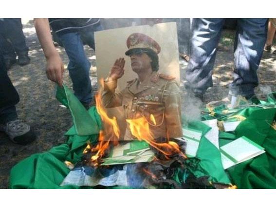 Devrik lider Kaddafi