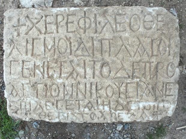 Ermenek'te bulunan yazıt