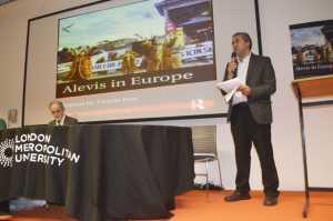 """BAF Başkanı İsrafil Erbil """"Alevis in Europe"""" kitabının yalnızca Alyevilerin değil göçmenlerin bir rehberi olduğunu söyledi."""
