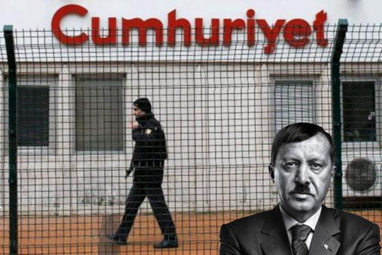 Cumhuriyet gazetesine operasyon...