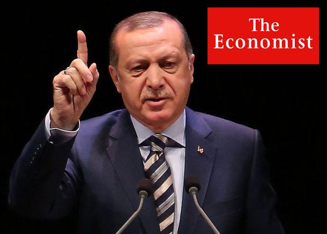 """Economist Erdoğan'ın Irak ve Suriye politikalarını """"Erdoğan'ın savaş oyunu"""" başlıklı bir yazıda ele aldı."""