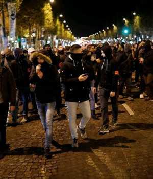 Fransa'da polis gösterisi