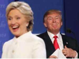 ABD'nin Cumhuriyetçi başkan adayı Donald Trump ve rakibi Demokrat Parti adayı Hillary Clinton
