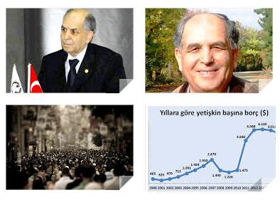 Prof. Dr. D. Ali Ercan ve Türkiye'nin borçları... Grafik: (www.paraanaliz.com)