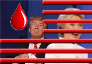 ABD'de Cumhuriyetçi Başkan adayı Donald Trump ve Demokrat aday Hillary Clinton