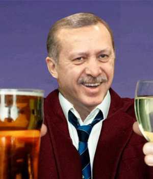 Tayyip Erdoğan içki