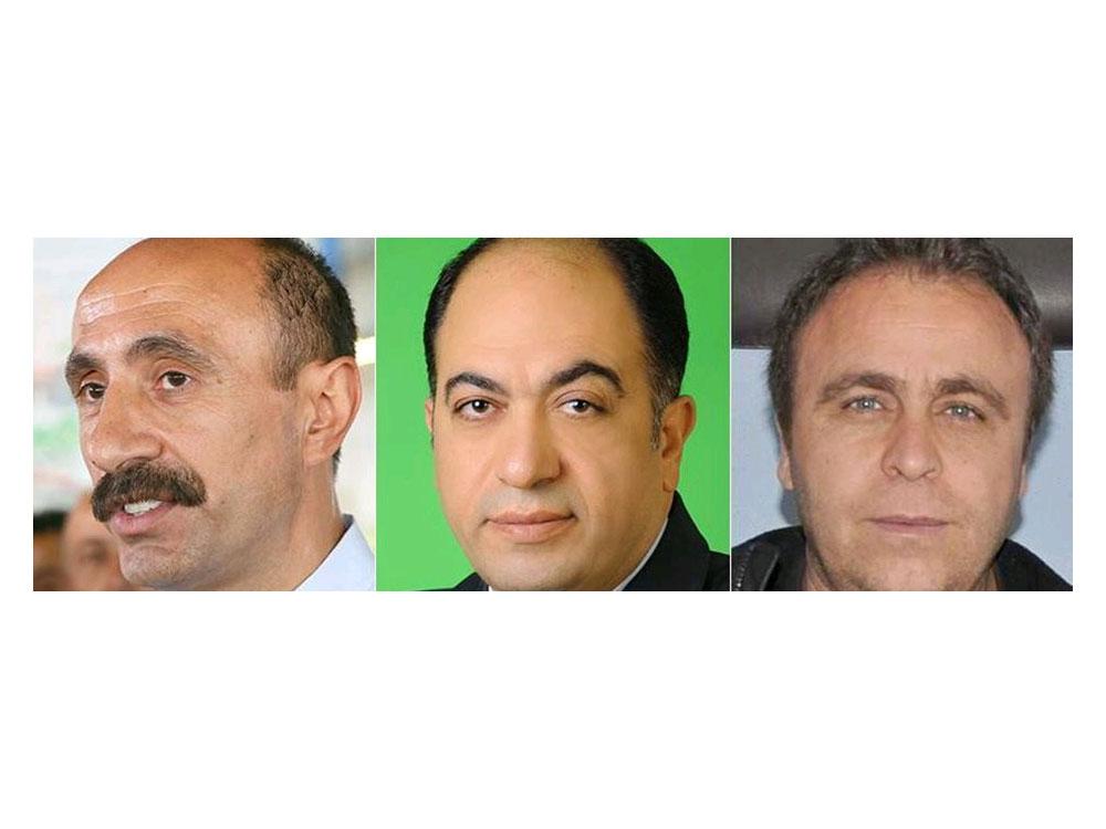 Mehmet Selim Kurbanoğlu, Mehmet Ali Aydın ve Servet Tunç (Soldan sağa)