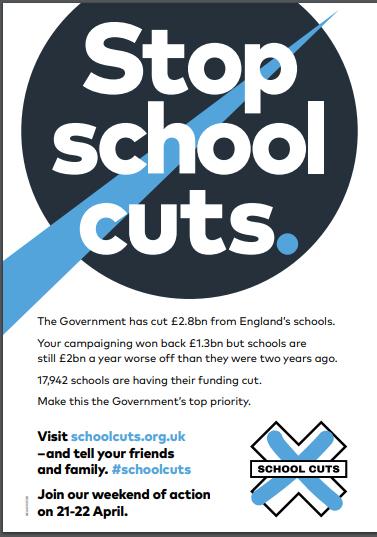 Okul kesintilerine karşı ulusal eylem...