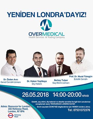 OVER MEDICAL DOKTORLARI 26 MAYIS'TA LONDRA'DA