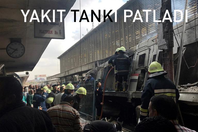 Mısır'da tren istasyonunda yangın: 20 ölü