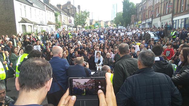 Olayın olduğu yerde protestocular